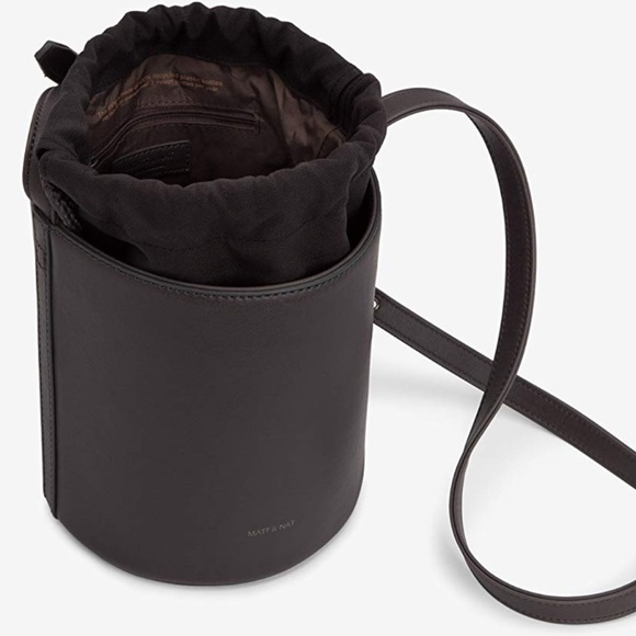 VEGAN LEATHER Recycled MATT & NAT Bucket Purse NWT